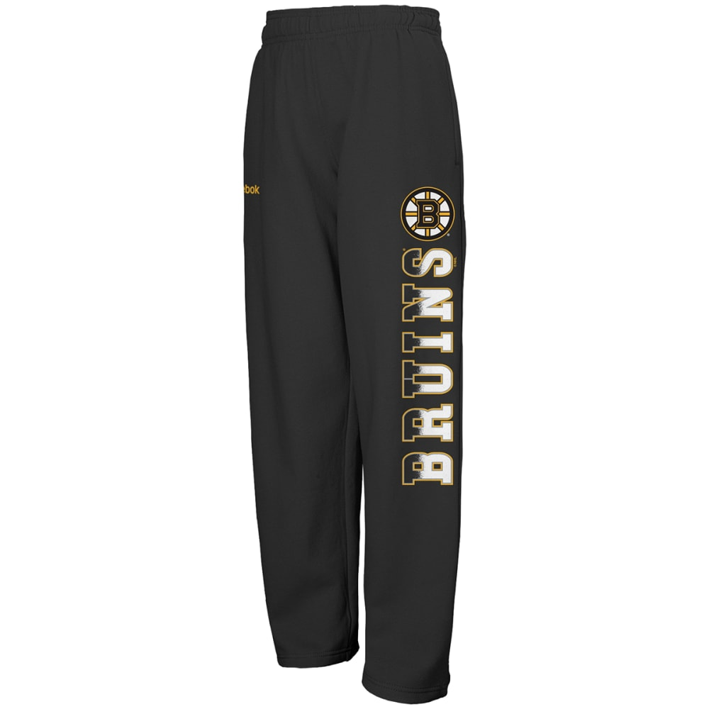 BOSTON BRUINS Boys' Classic Side Print Fleece Pants - BRUINS BLK