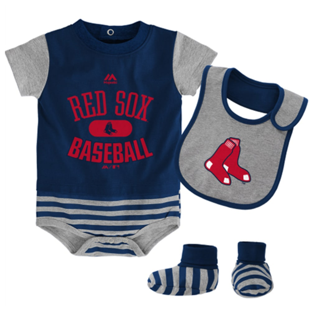 BOSTON RED SOX Bodysuit, Bootie, and Bib Set - RED SOX