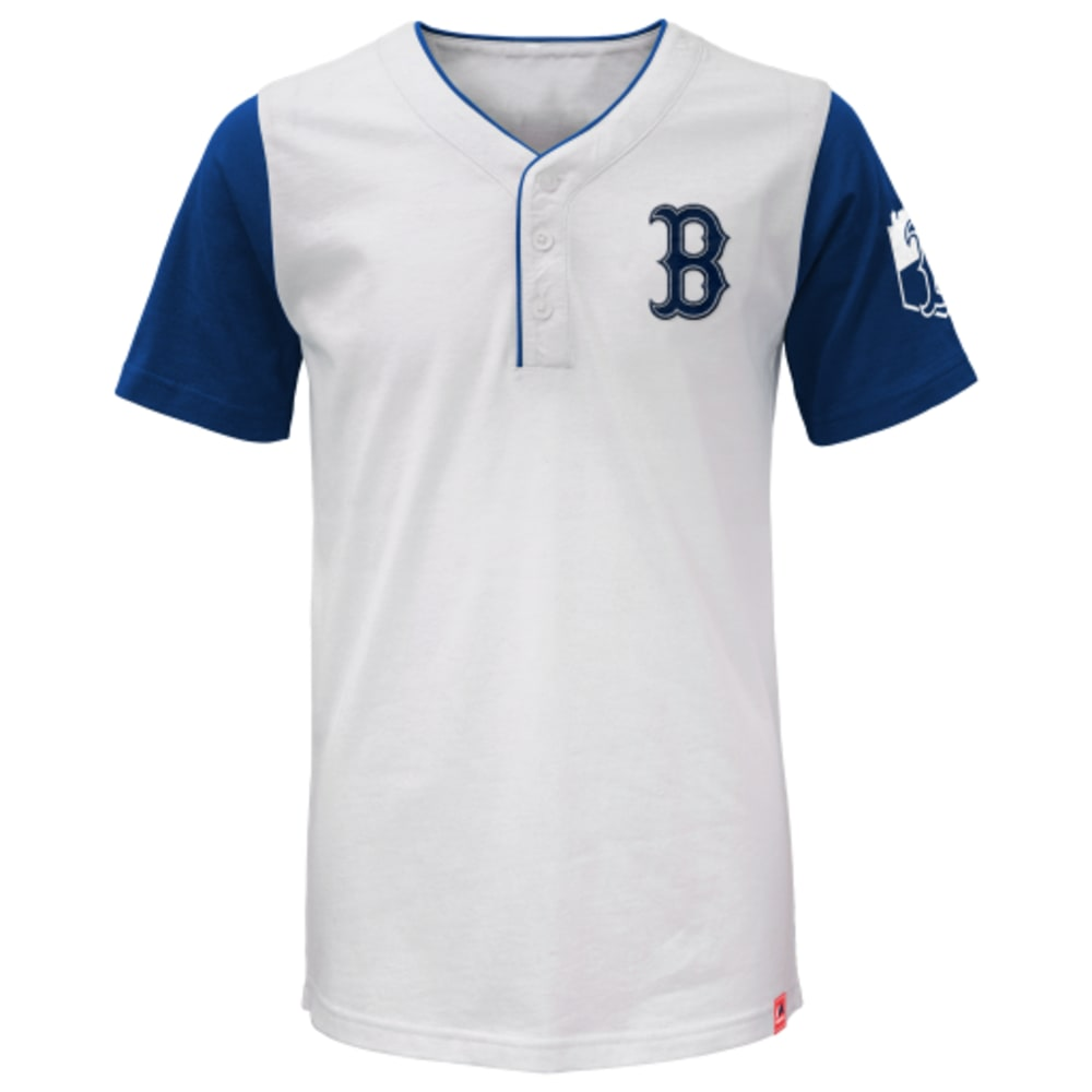 BOSTON RED SOX Boys' Big Time Fan Short-Sleeve Henley - RED SOX