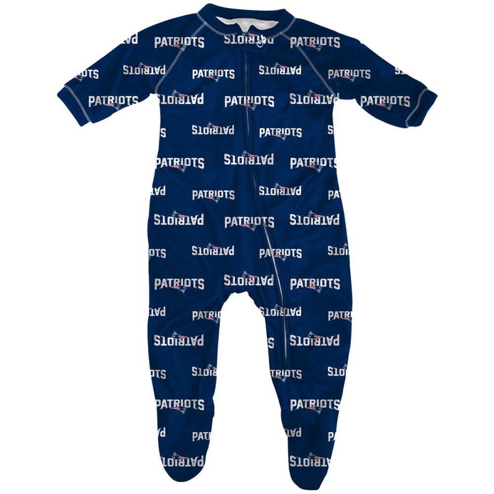 NEW ENGLAND PATRIOTS Infant Boys' Raglan Zip Coverall - PATRIOTS