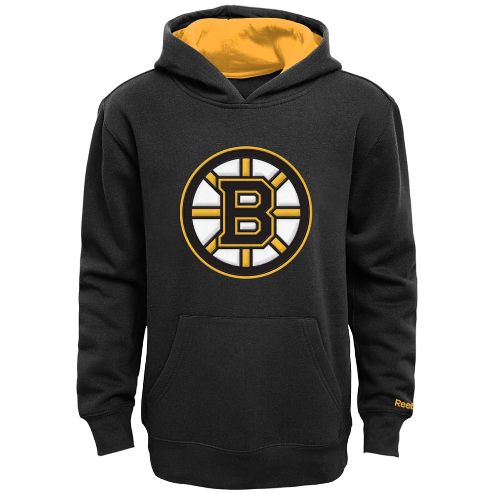 REEBOK Boys' Boston Bruins 4-7 Pullover Hoodie - GREY HOUNDSTOOTH