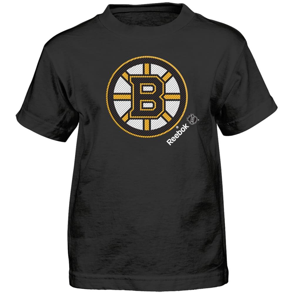 REEBOK Boys' Boston Bruins TNT Frost Logo Short-Sleeve Tee - BRUINS BLK