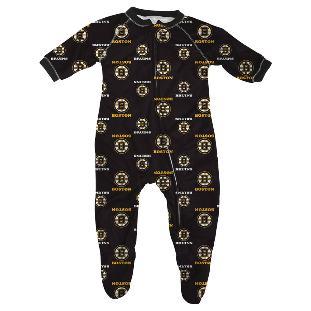 BOSTON BRUINS Infant Raglan Zip-Up Coverall - BRUINS