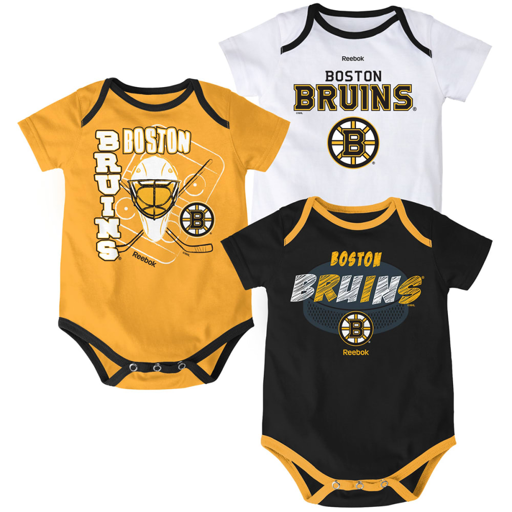BOSTON BRUINS Infant Boys' Three Point Spread Bodysuit Set, 3 Pieces - BRUINS