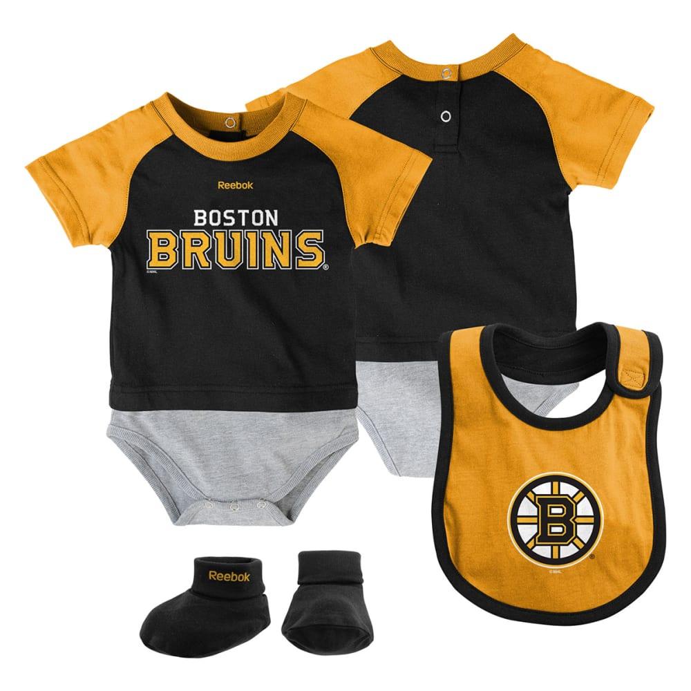 BOSTON BRUINS Infant Lil' Jersey Bib & Bootie Set - BRUINS