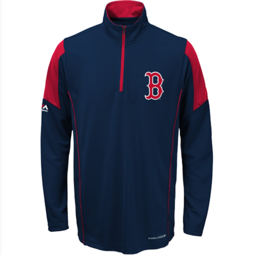 BOSTON RED SOX Boys' 1/4 Zip Fleece Pullover - RED SOX