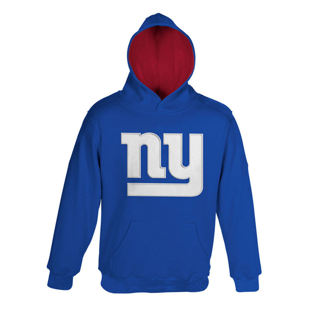 NEW YORK GIANTS Youth Primary Pullover Hoodie  - ROYAL BLUE