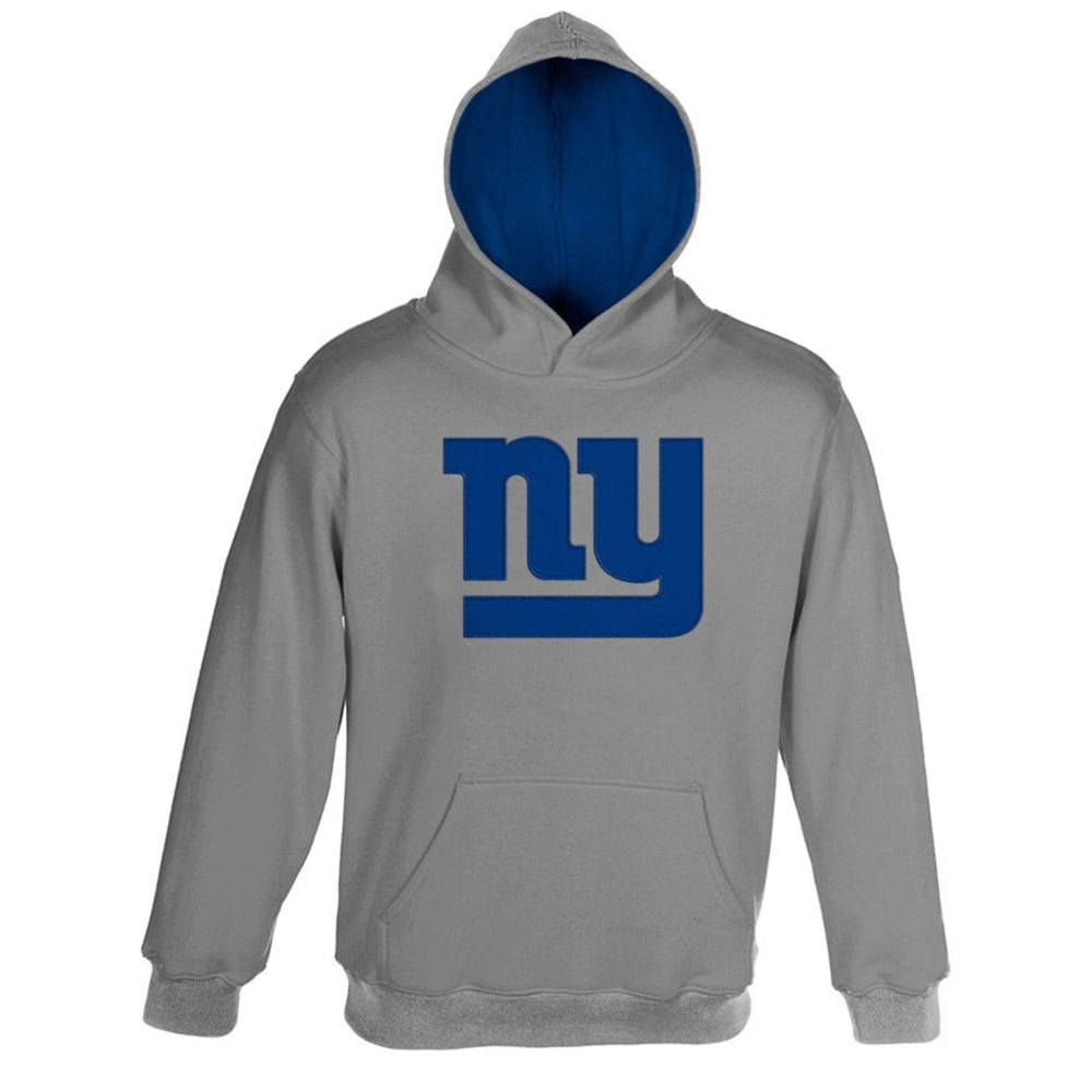 NEW YORK GIANTS Youth Primary Pullover Hoodie  - GREY