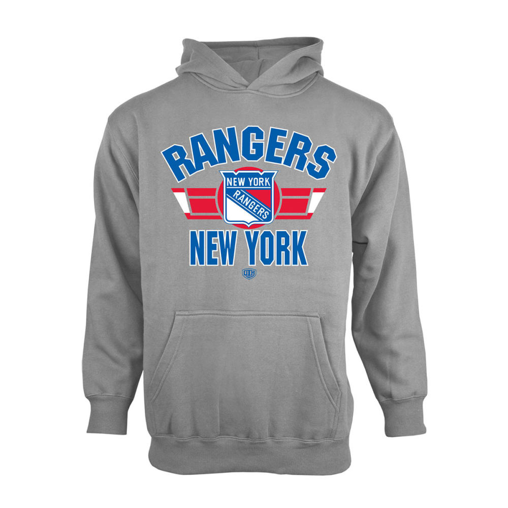 NEW YORK RANGERS Kids' Bowman Screen Printed Hoodie - STEEL GREY
