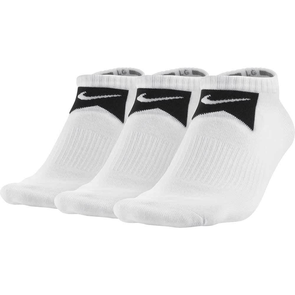 Nike Skate SX4688 No Show Sock- 3 Pack - PREMIER - WHITE