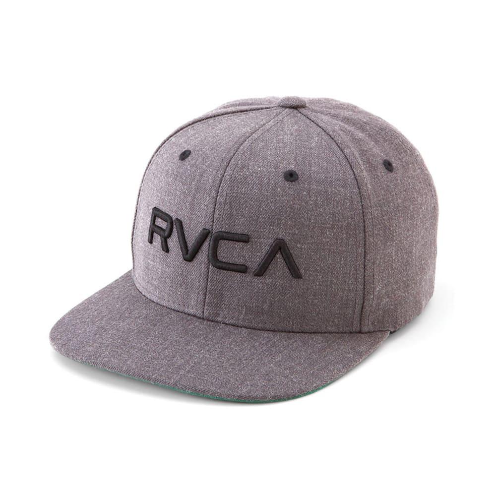 RVCA Twill Snapback Hat - CHARCOAL HEATHER