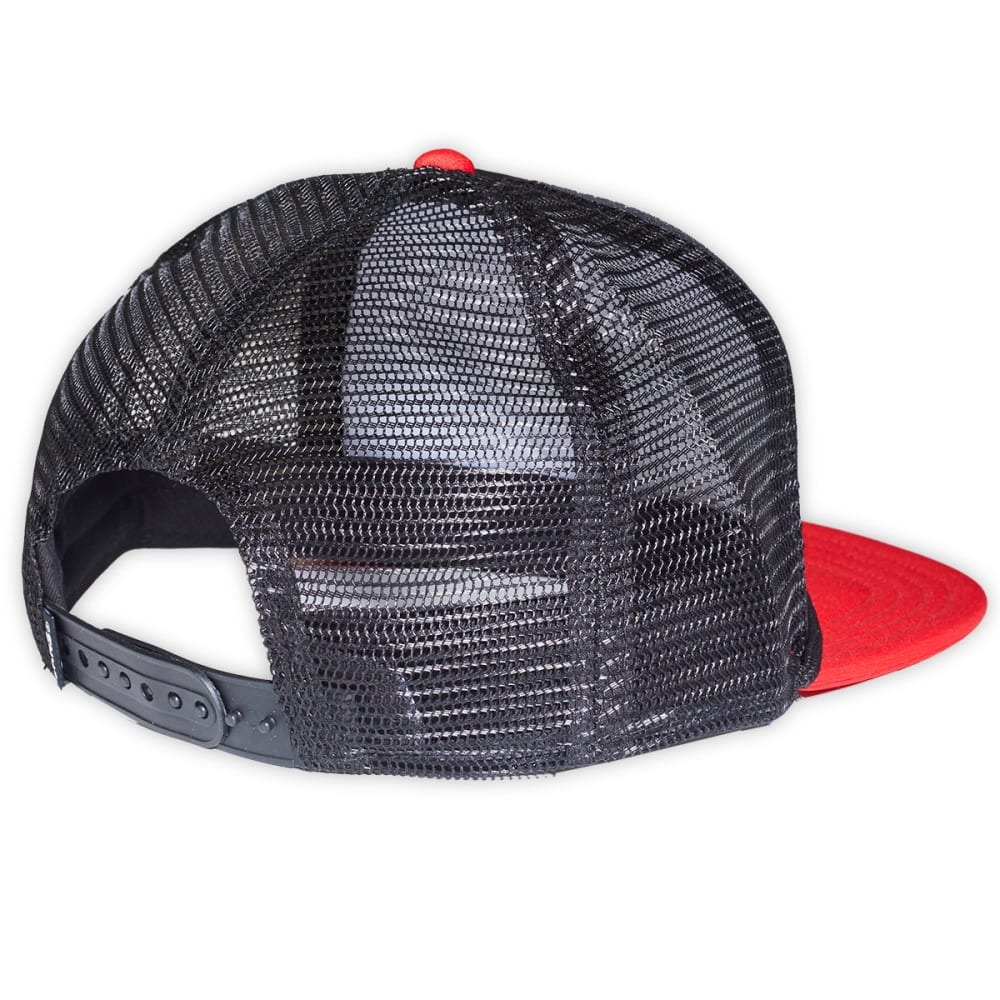 VANS Guys' Classic Patch Trucker Hat - BLACK/RED