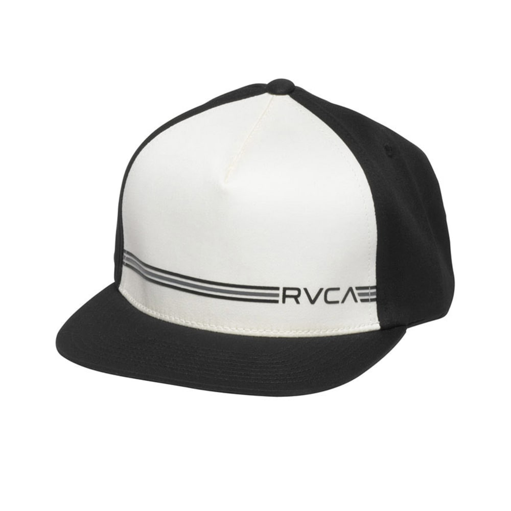 RVCA Young Men's Crusher Twill Snapback - BLACK/NATURAL