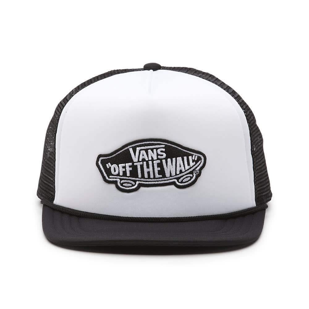 VANS Men's Classic Trucker Patch Hat - WHITE