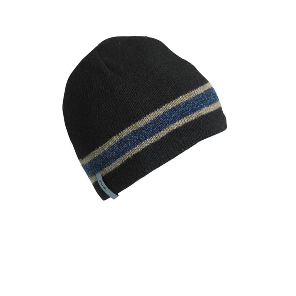TURTLE FUR Guys™ Boston Ragg Stripe Beanie - BLACK/NEPTUNE