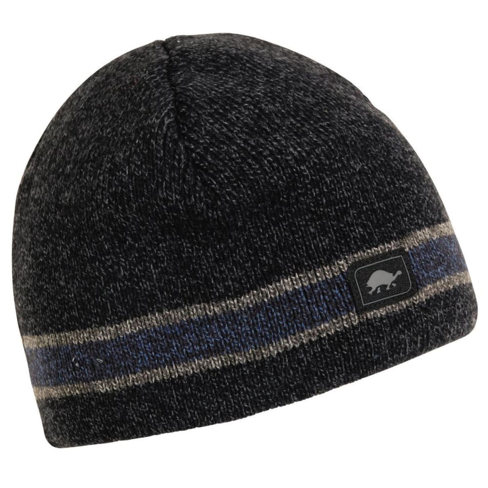 TURTLE FUR Guys™ Boston Ragg Stripe Beanie - BLACK HEATHER - 215