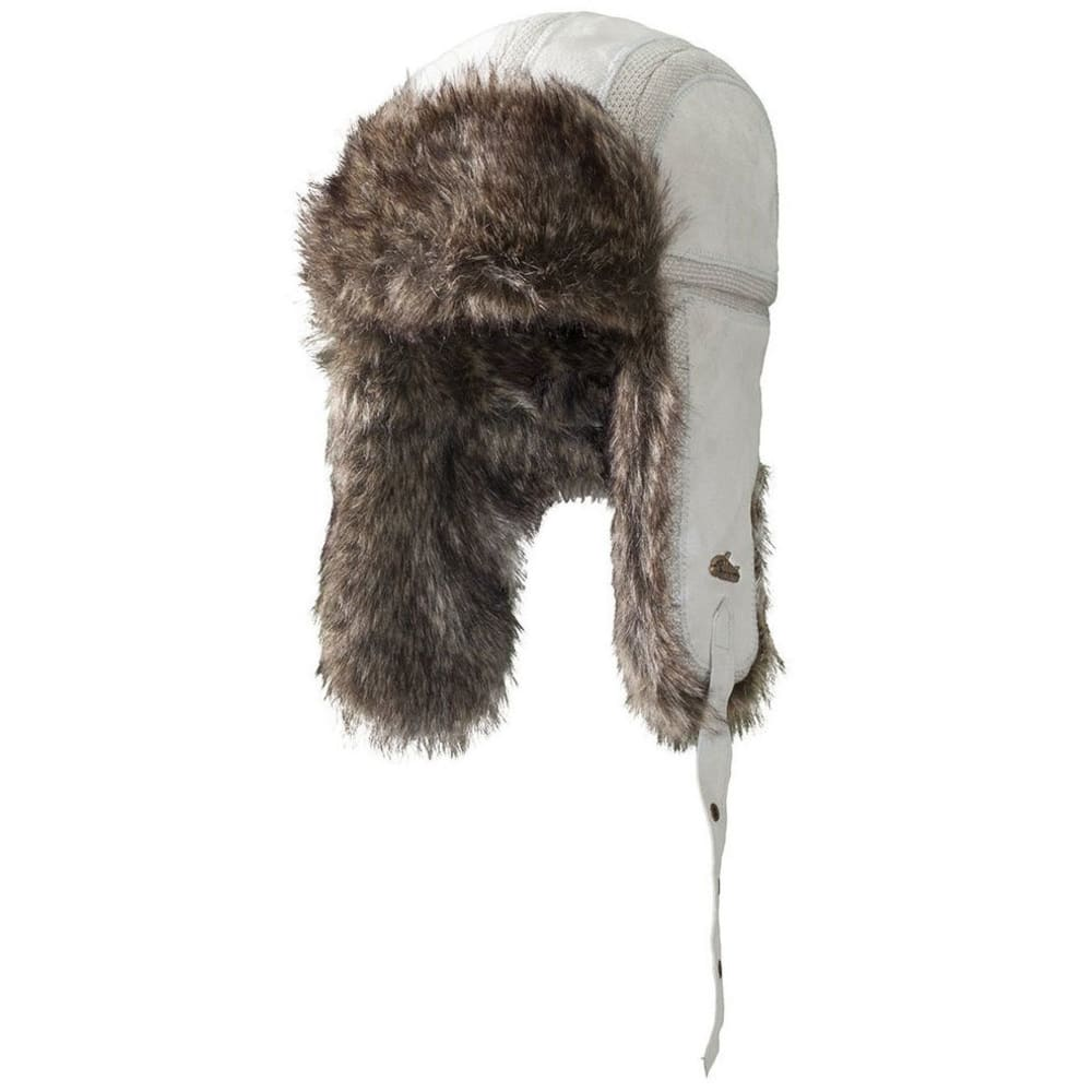 SCREAMER Vodka Bar Faux Fur Bomber Hat - HEATHER GREY/YELLOW