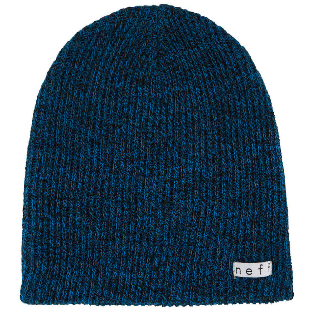 NEFF Guys' Daily Heather Beanie - BLACK/BLUE-BKBL