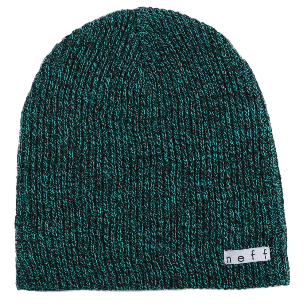 NEFF Guys' Daily Heather Beanie - BLACK/GREEN
