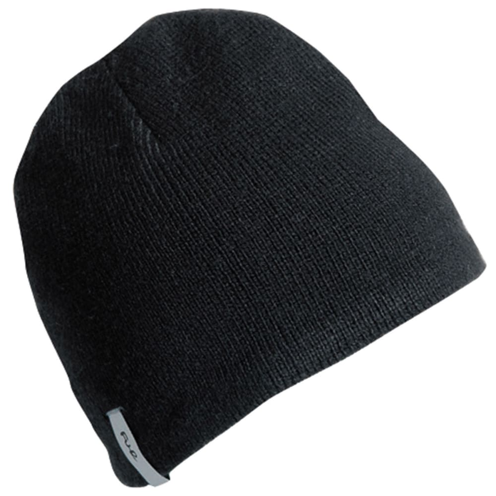 TURTLE FUR Guys' Solid Ragg Beanie - BLACK