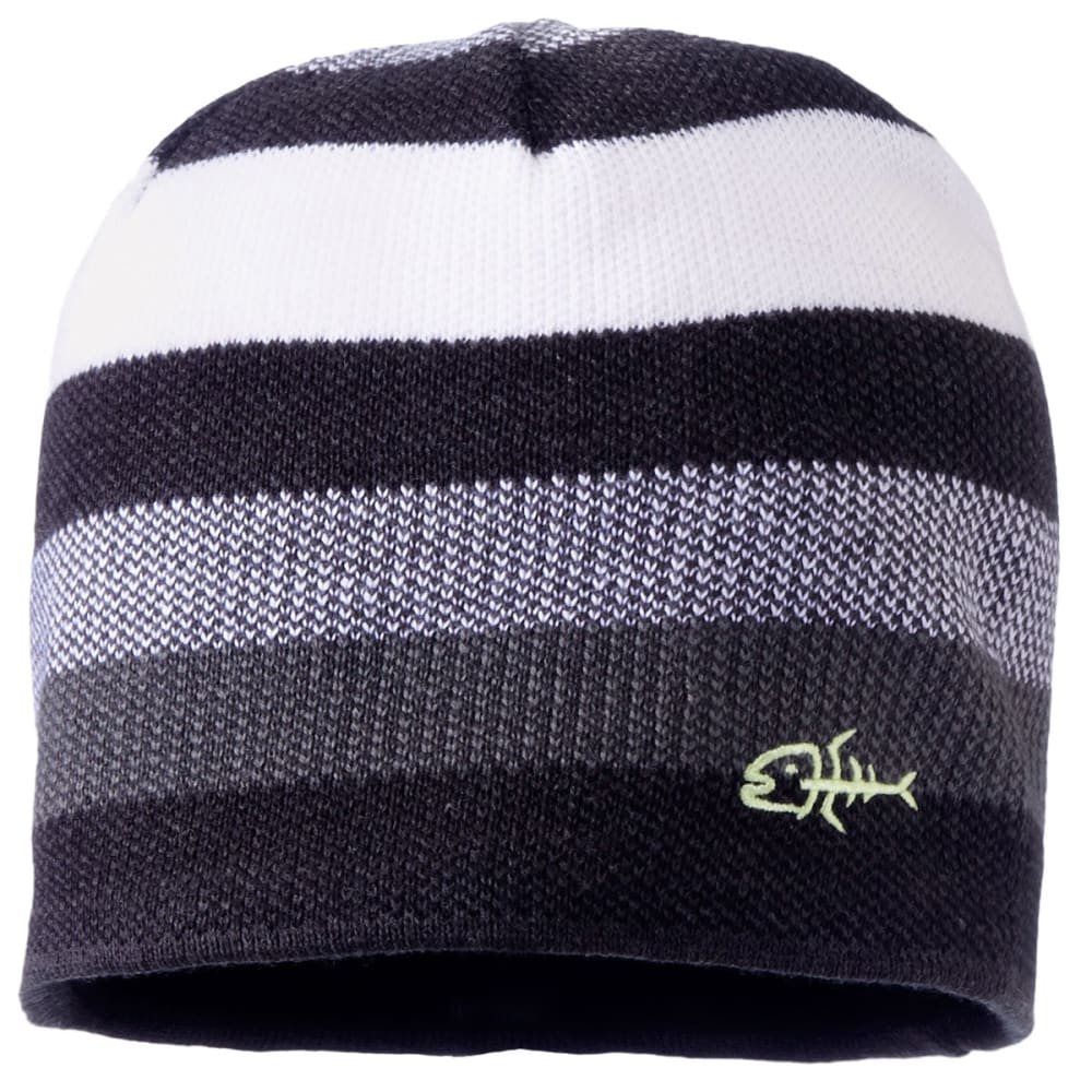 SCREAMER Guys' Brandon Stripe Marled Beanie - BLACK