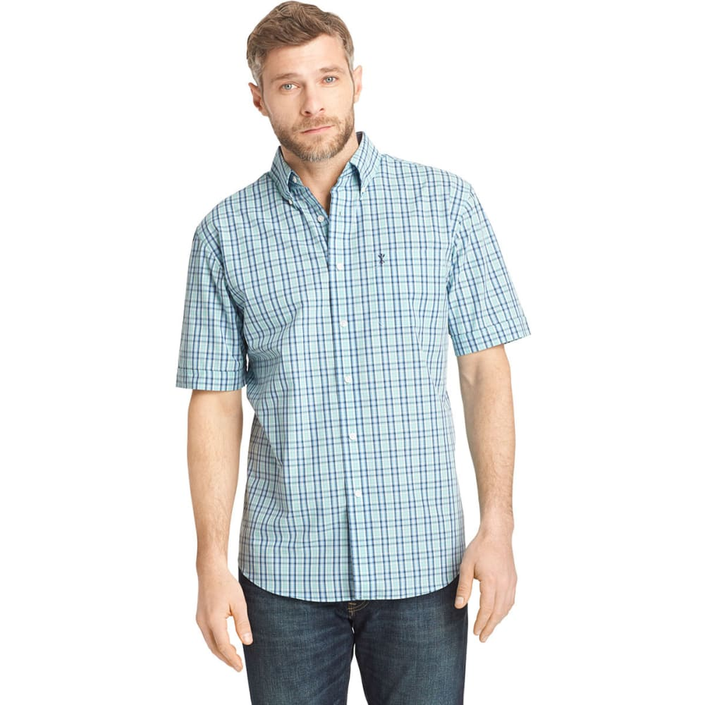 ARROW Men's Hamilton Plaid Button-Down Shirt - BLOWOUT - AQUA HAZE