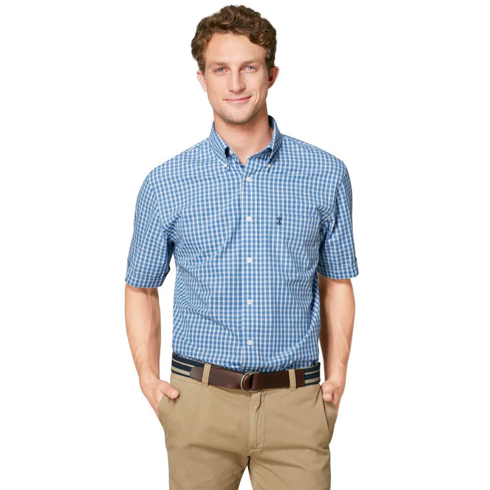 ARROW Men's Hamilton Plaid Button-Down Shirt - BLOWOUT - STAR SAPPHIRE