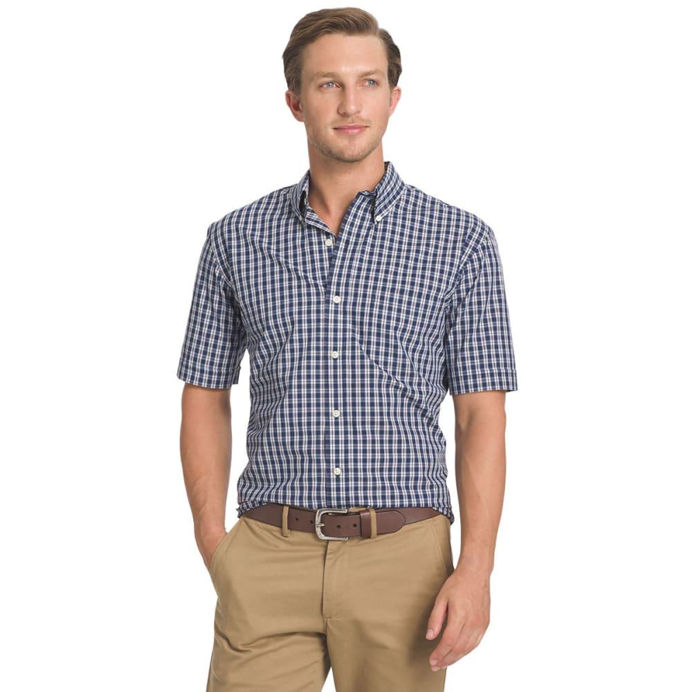 ARROW Men's Hamilton Plaid Button-Down Shirt - BLOWOUT - PEACOAT