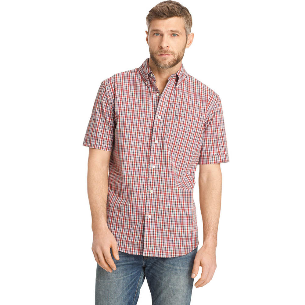 ARROW Men's Hamilton Plaid Button-Down Shirt - BLOWOUT - GARNET