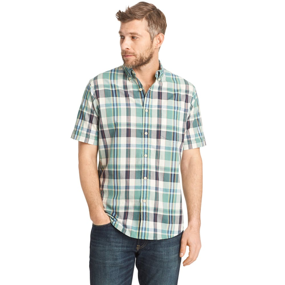 ARROW Men's Madras Button-Down Shirt - BLOWOUT - JET STREAM