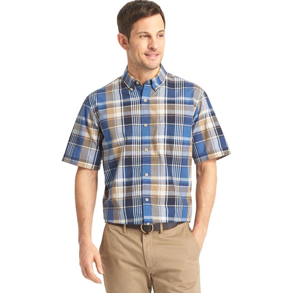 ARROW Men's Madras Button-Down Shirt - BLOWOUT - TRUE NAVY