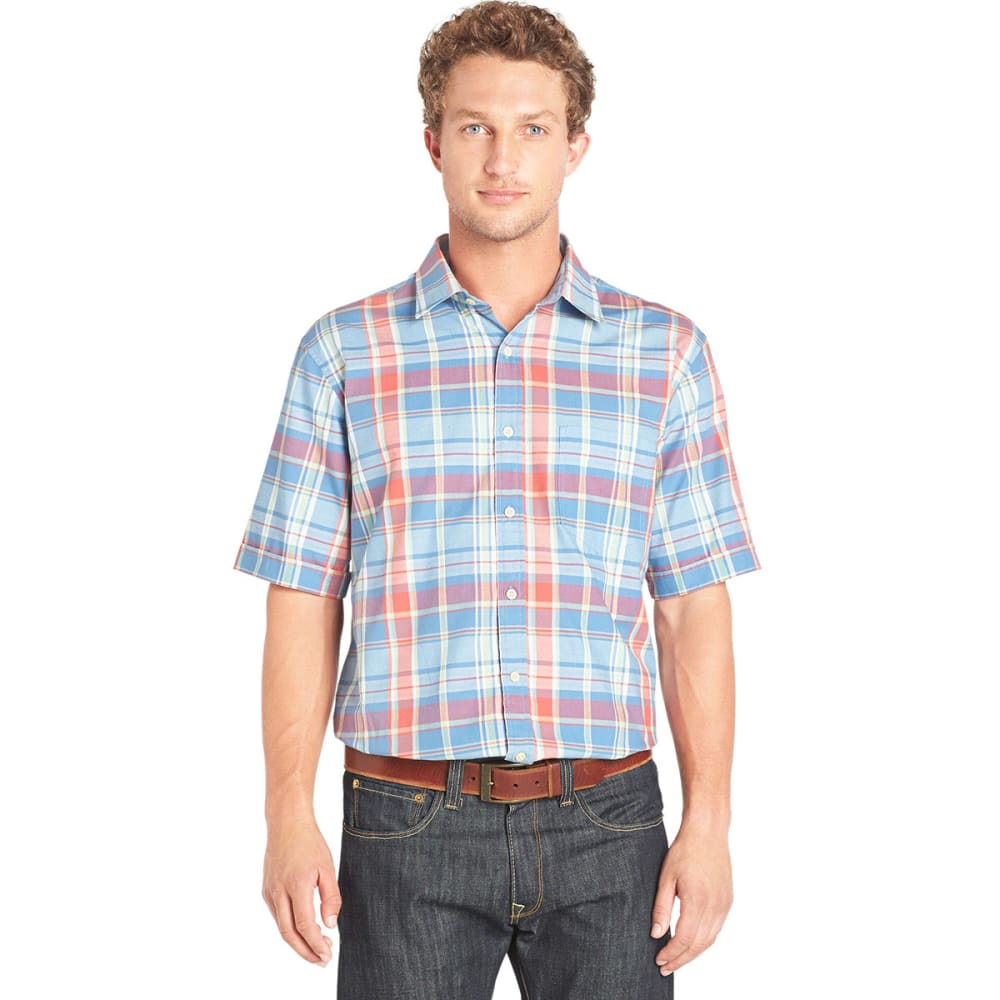 ARROW Men's Madras Button-Down Shirt - BLOWOUT - DUTCH BLUE
