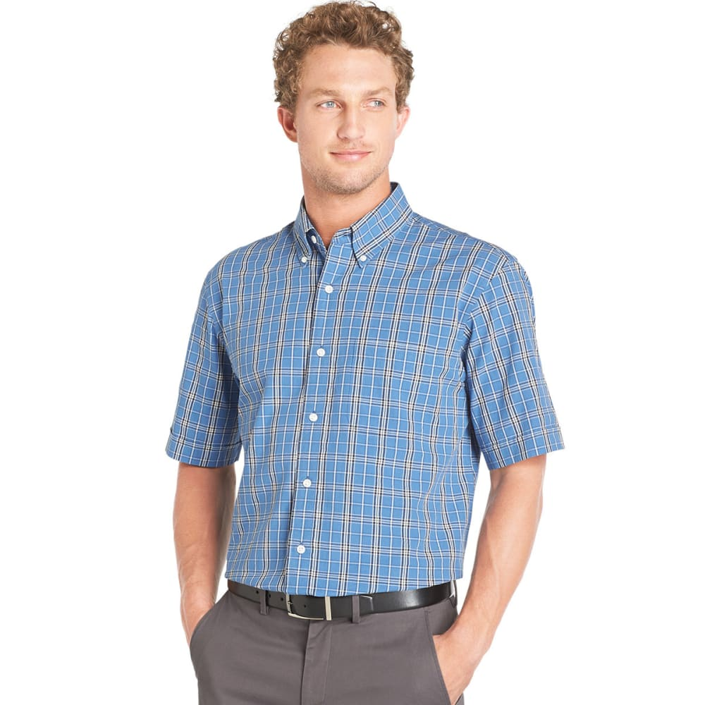 ARROW Big & Tall Short-Sleeve Seersucker Woven Shirt - DUTCH BLUE