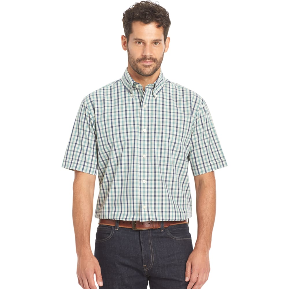 ARROW Men's Hamilton Poplin Short-Sleeve Shirt - 366-SMOKE GRN