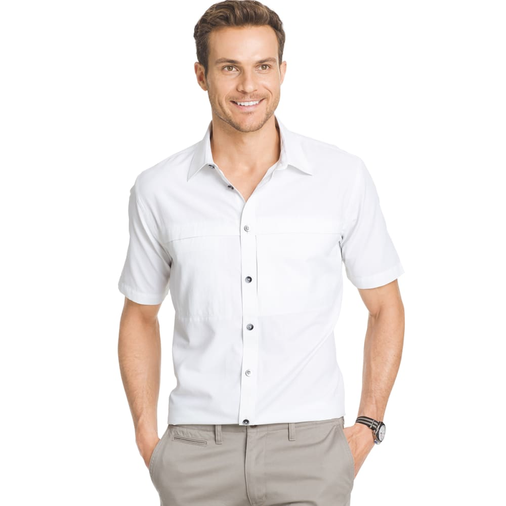 VAN HEUSEN Men's Traveler Utility Shirt - 110-WHITE
