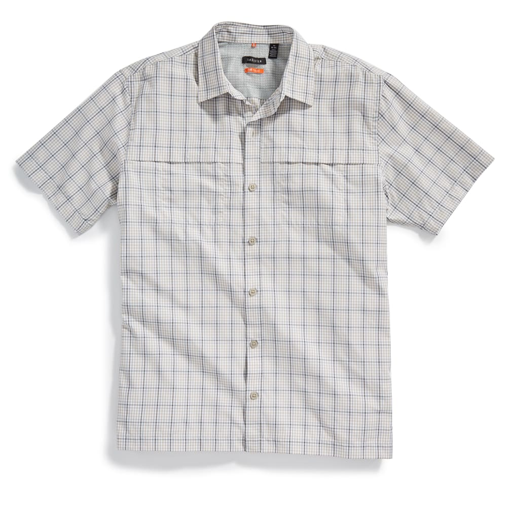 VAN HEUSEN Men's Traveler Plaid Utility Shirt - 261-KHA PLAZA