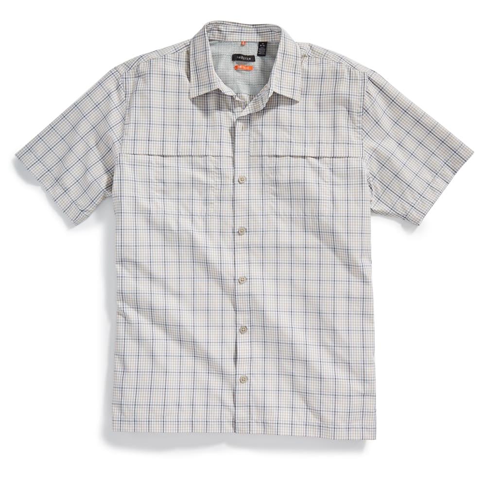 VAN HEUSEN Men's Traveler Plaid Utility Shirt - 261-KHA PLAZA