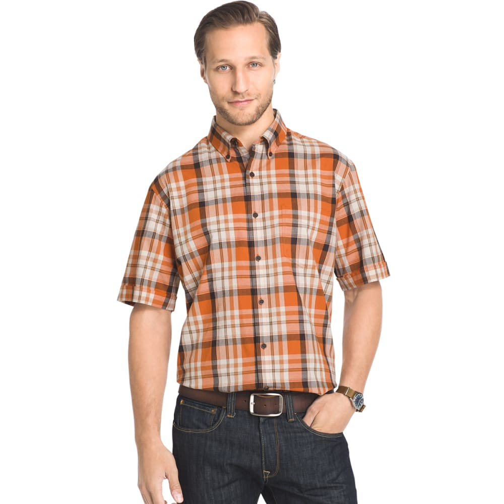 ARROW Men's Madras Short-Sleeve Shirt - 803-AUTUMNAL