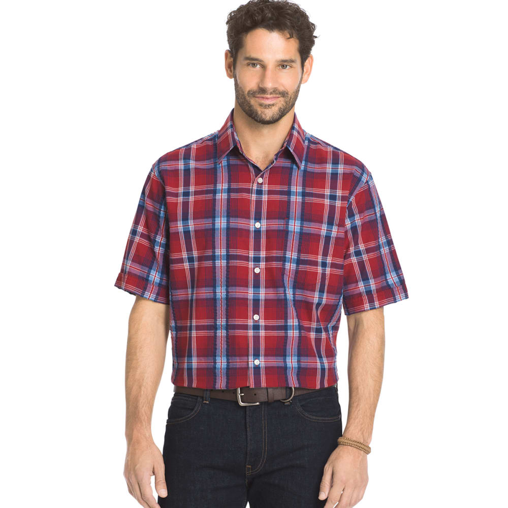 ARROW Men's Sea Jack Pucker Plaid Shirt - ROSEWOOD