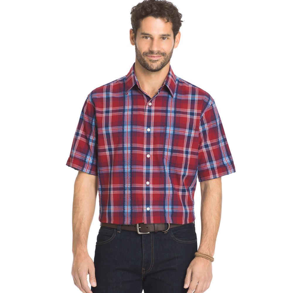 ARROW Men's Sea Jack Pucker Plaid Shirt - ROSEWOOD