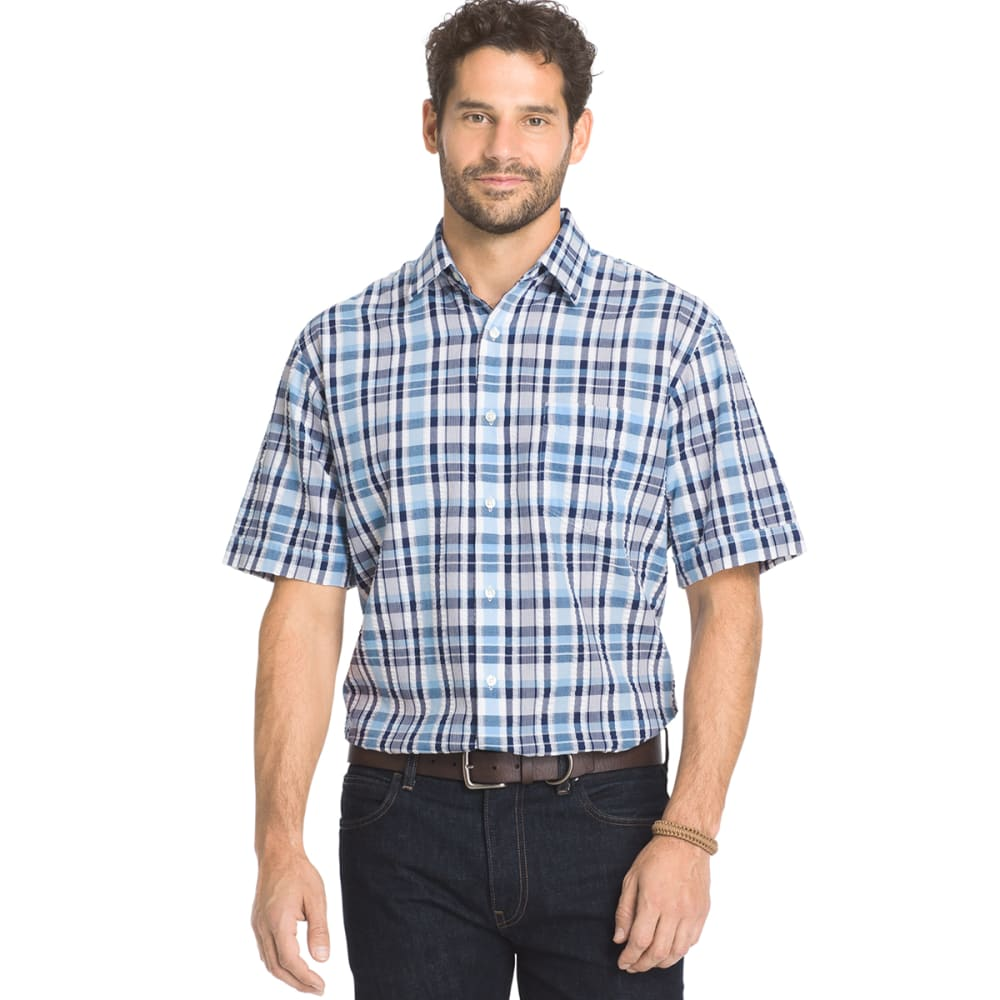 ARROW Men's Sea Jack Pucker Plaid Shirt - CLUB BLU