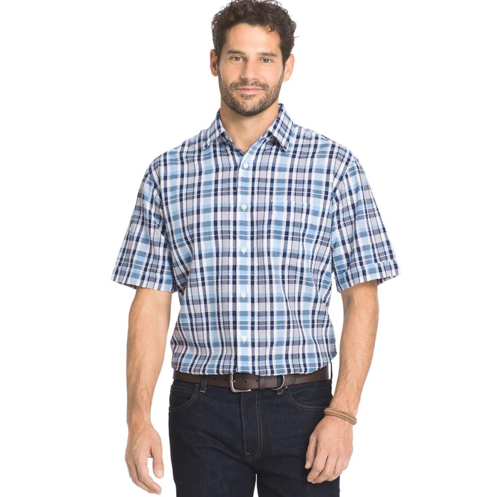 ARROW Men's Sea Jack Pucker Plaid Shirt - CLUB BLU