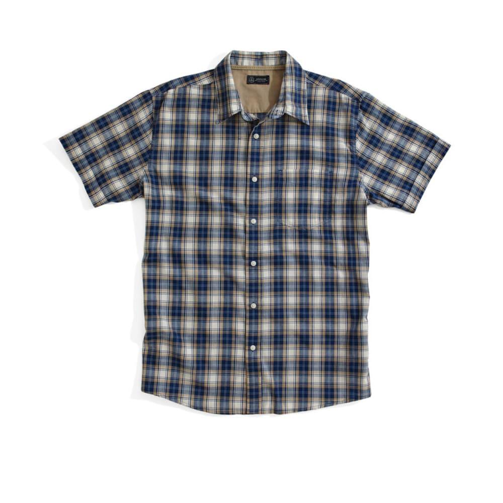 ARROW Men's Sun-washed Plaid Shirt - DARK DENIM