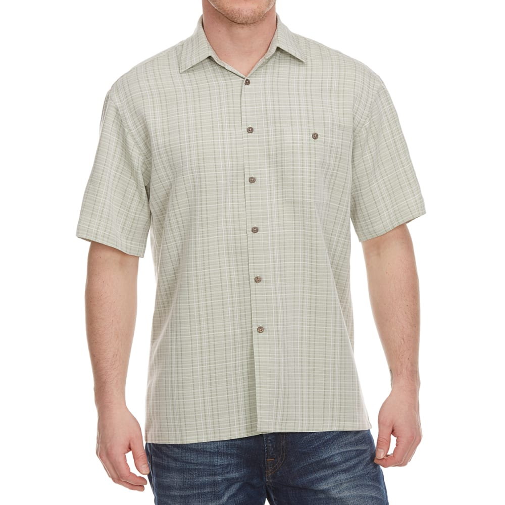 CAMPIA Men's Plaid Woven Polo - BLOWOUT M
