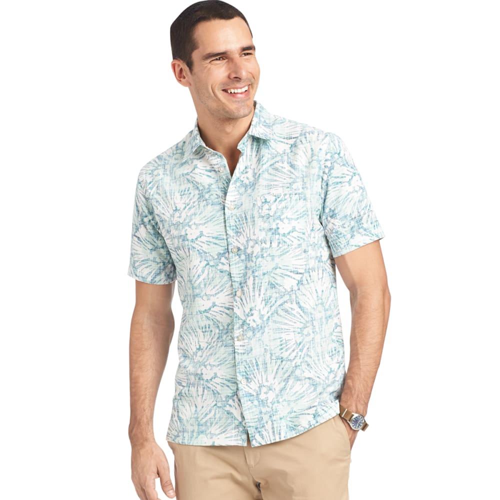 VAN HEUSEN Men's Floral Lichen Button-Up Shirt - 315-GRN LICHEN