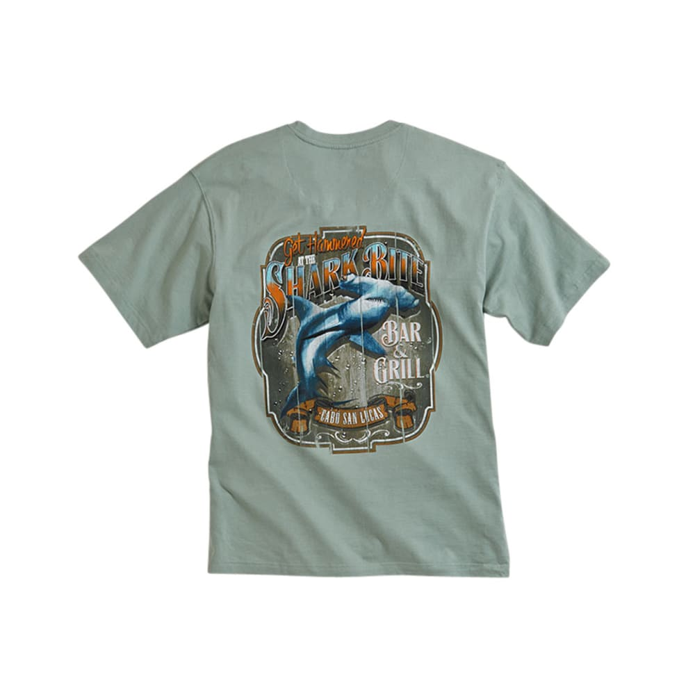 NEWPORT BLUE Men's Shark Bite Bar and Grill Tee - SHALE