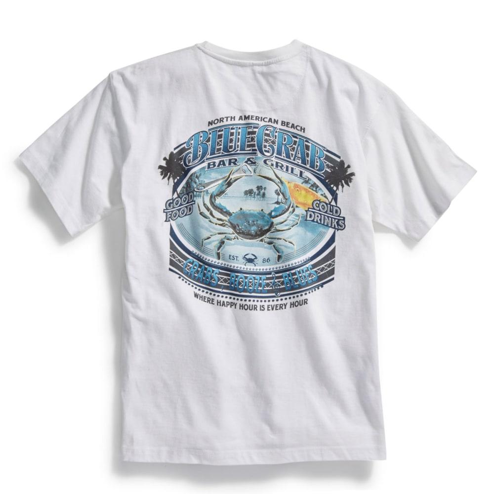 NEWPORT BLUE Men's Blue Crab Bar N Grill Short-Sleeve Tee - WHITE