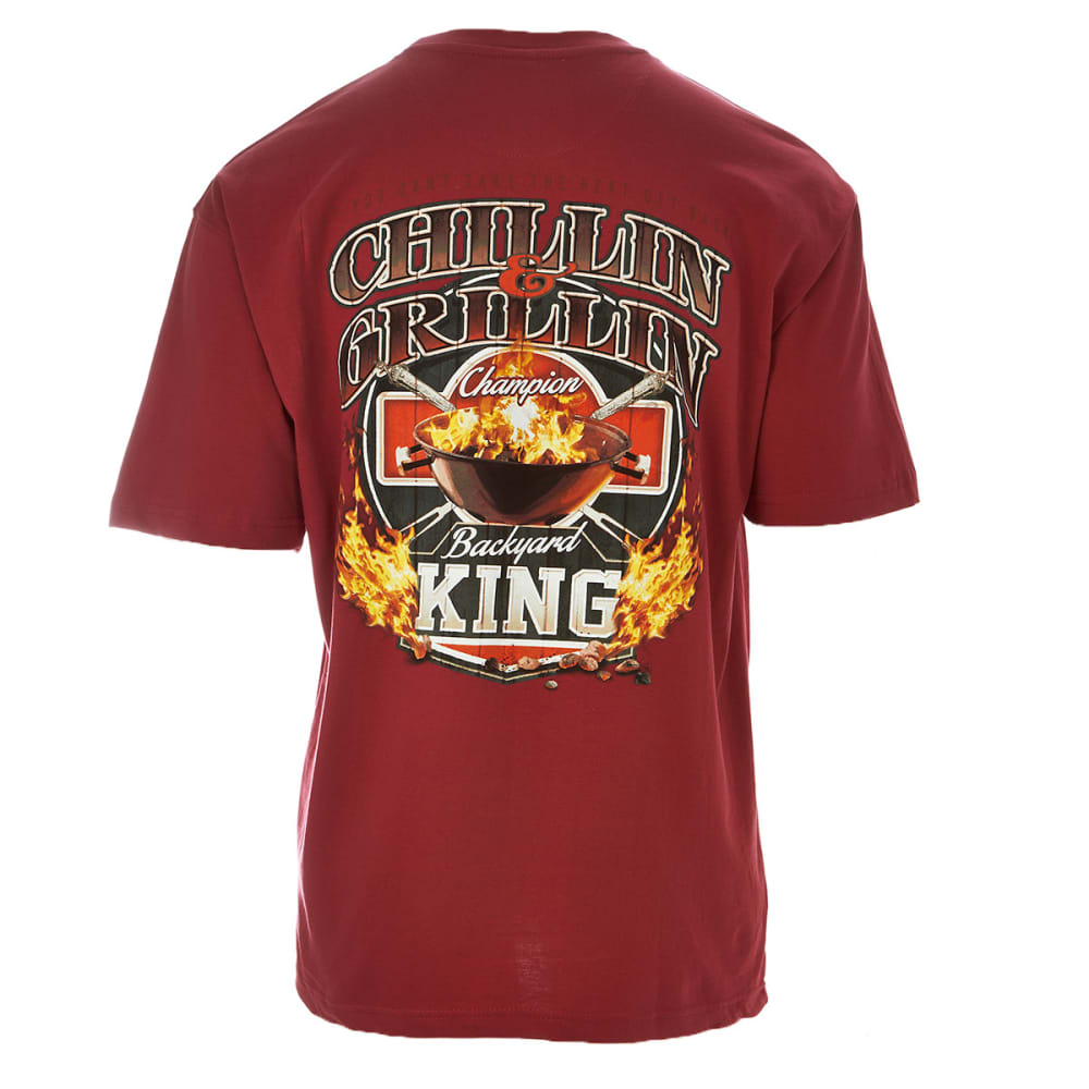 NEWPORT BLUE Men's Chillin' Grillin' Tee - SANGRIA