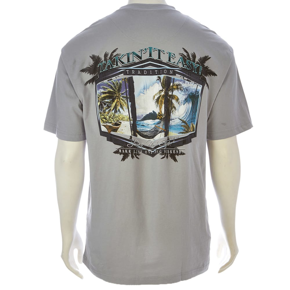 NEWPORT BLUE Men's Takin' It Easy Tee - GREY