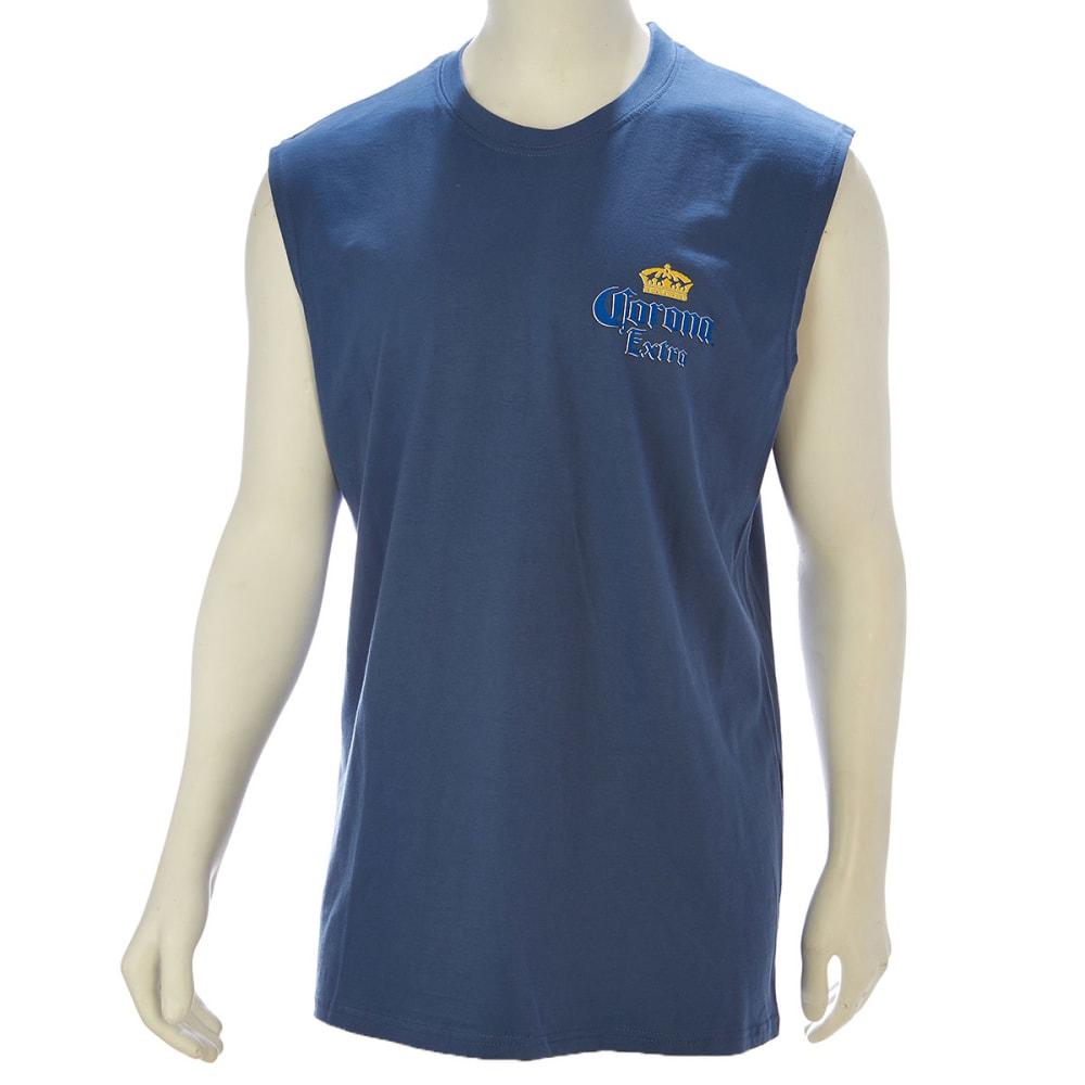 NEWPORT BLUE Corona Lime Beach Muscle Tee - BLUE
